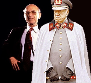 Economist Milton Friedman and his student, dictatorl Augusto Pinochet