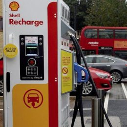 Shell Oil installing electric charging stations across Europe.